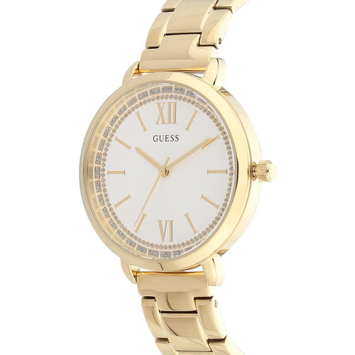 GUESS Women White Analogue Watch W1231L2