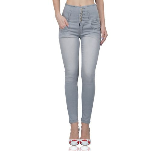 Luxsis Skinny Women Grey Jeans