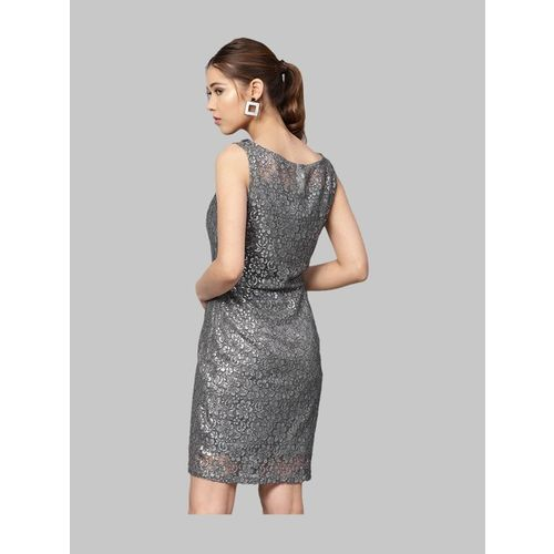 Kazo Frost Grey Lace Dress