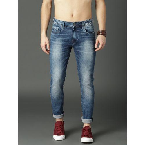 Roadster Blue Cotton Denim Slim Fit Casual Jeans