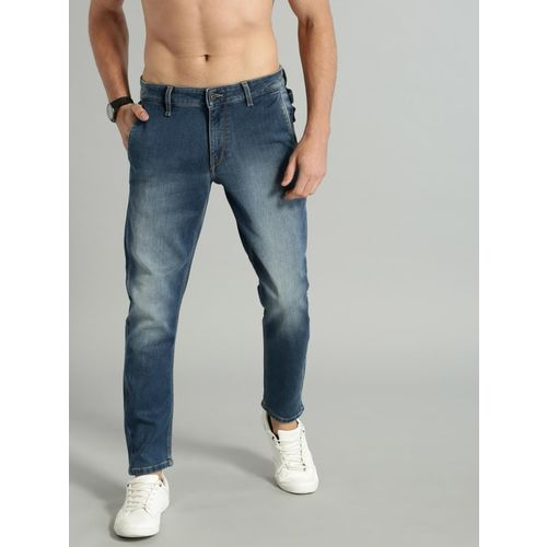 Roadster Blue Cotton Denim Slim Fit Casual Jeans