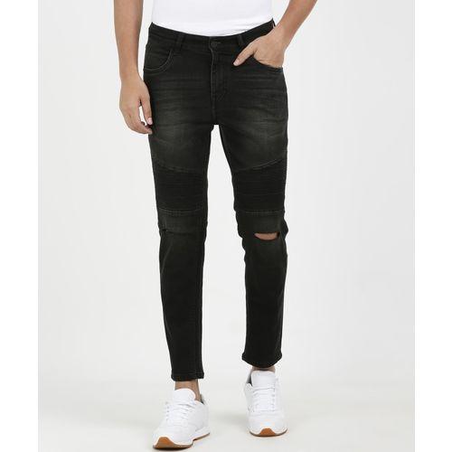 SKULT Black Cotton Denim Slim Fit Casual Jeans