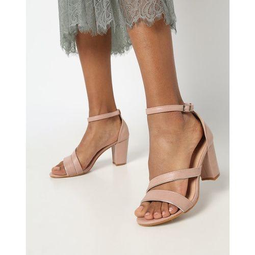 AJIO Chunky Heeled Strappy Sandals