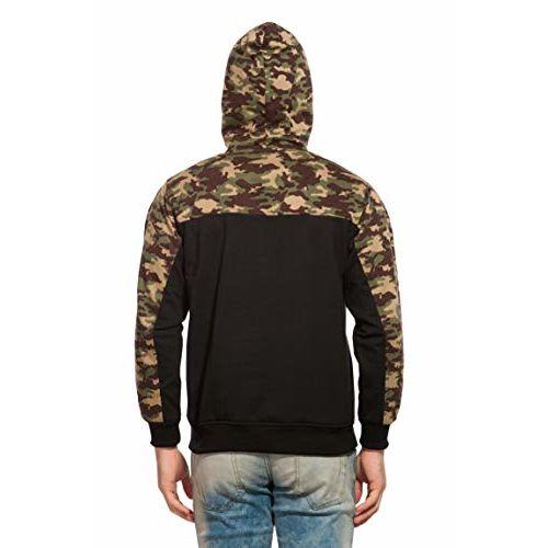 Alan Jones Clothing Alan Jones Camouflage Full Sleeves Zipper Hooded Sweatshirt