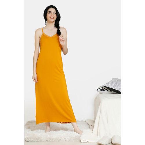 Zivame Women Nighty(Yellow)