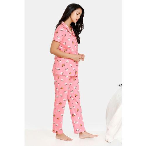 Zivame Women Printed Multicolor Top & Pyjama Set