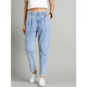 Roadster Women Blue Boyfriend Fit Mid-Rise Clean Look Stretchable Cropped Jeans