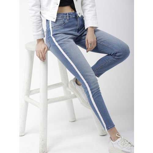 Mast & Harbour Women Blue Skinny Fit Mid-Rise Clean Look Jeans
