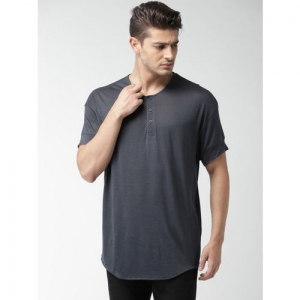 SELECTED Homme Identity Blue Henley T-shirt
