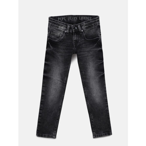 Pepe Jeans Boys Black Slim Fit Clean Look Jeans