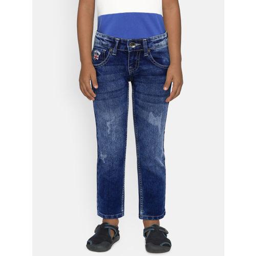 Pepe Jeans Boys Blue Slim Fit Mildly Distressed Jeans