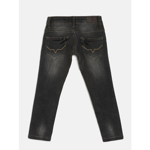 Pepe Jeans Boys Grey Mid-Rise Clean Look Jeans