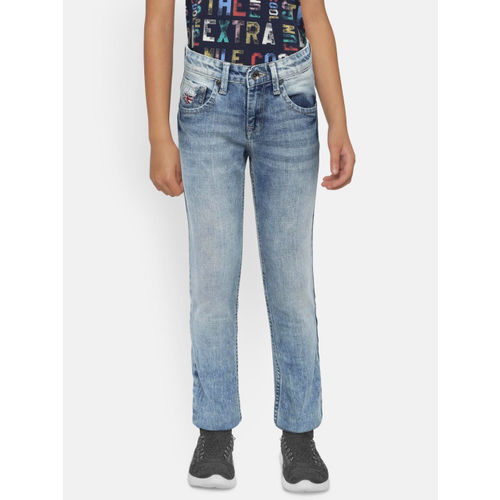 Pepe Jeans Boys Blue Slim Fit Mid-Rise Clean Look Stretchable Jeans