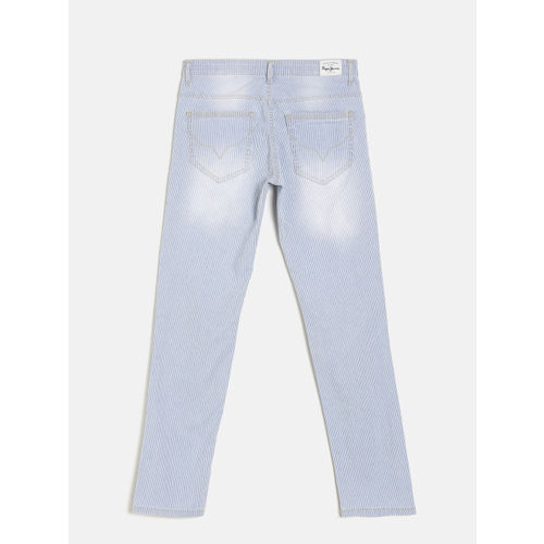 Pepe Jeans Boys Blue Mid-Rise Clean Look Jeans