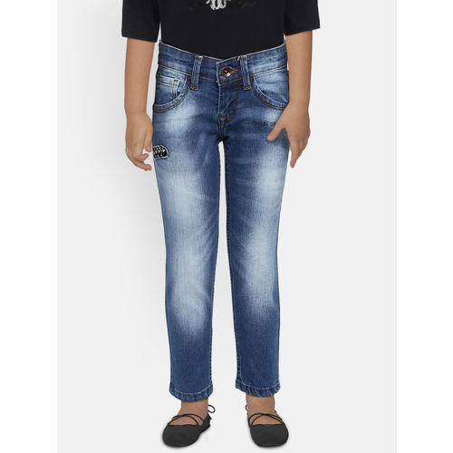 Pepe Jeans Boys Navy Blue Mid-Rise Clean Look Stretchable Jeans