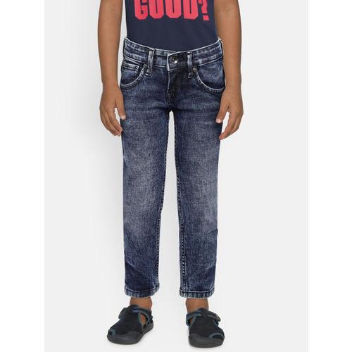 Pepe Jeans Boys Blue Regular Fit Clean Look Jeans