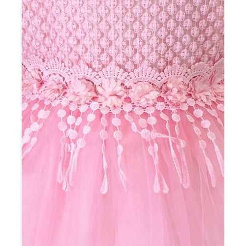 Amigo 7 Seven Flowers Embellished Sleeveless Dress - Pink