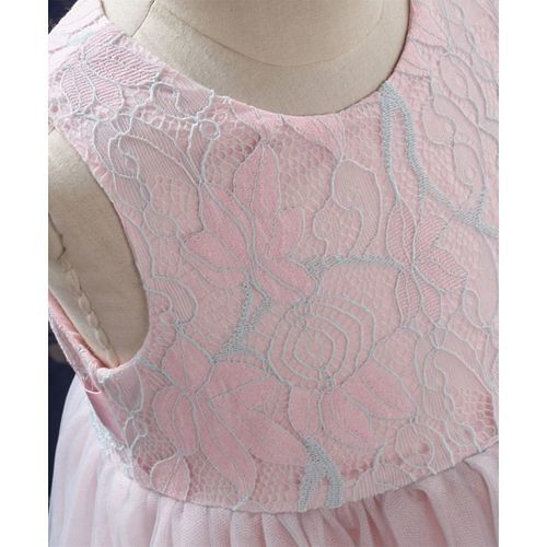 Kookie kids Size(110) Sleeve Less Girls Party Frock - Pink