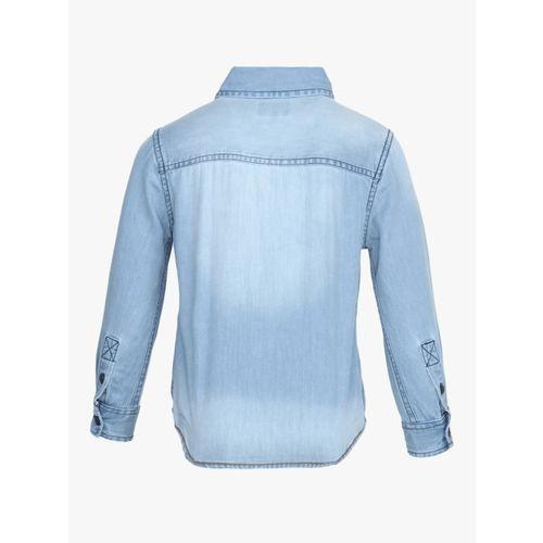 Pepe Jeans Light Blue Regular Fit Denim Shirt