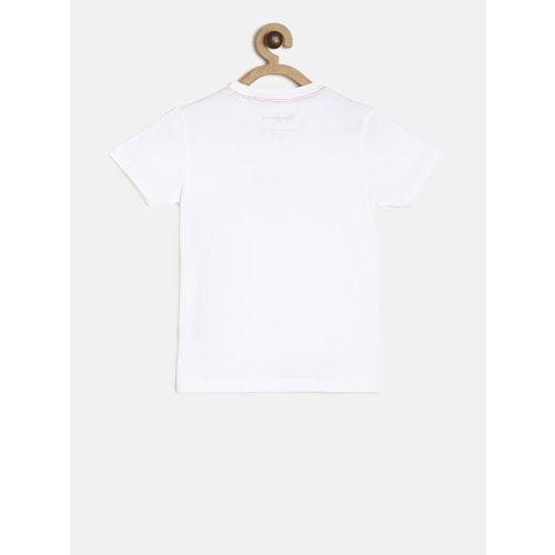 Pepe Jeans Boys White Printed T-shirt