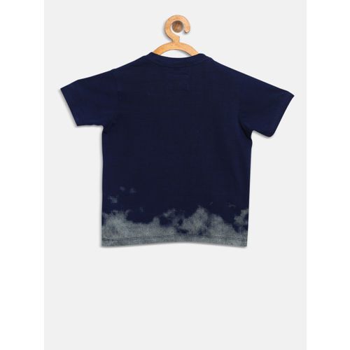 Pepe Jeans Boys Navy Printed Round Neck T-shirt