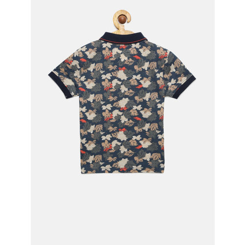 Pepe Jeans Boys Multicoloured Printed Polo Collar T-shirt