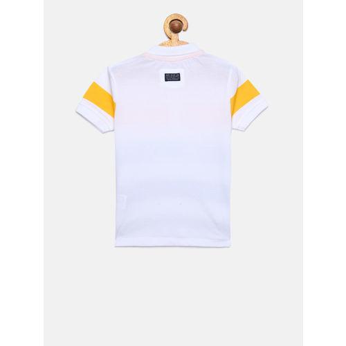 Pepe Jeans Boys Multicoloured Striped Polo Collar T-shirt