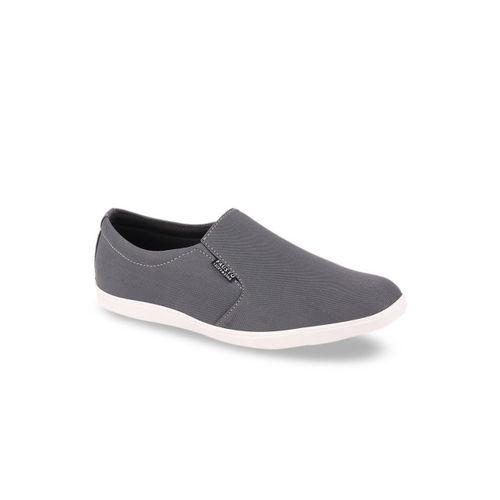 FAUSTO Men Grey Slip-On Sneakers