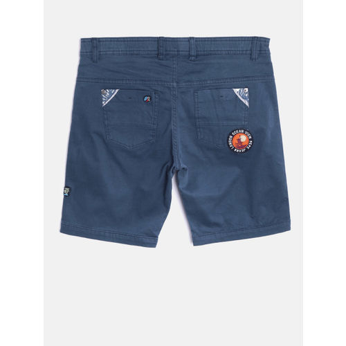 Pepe Jeans Boys Navy Printed Shorts