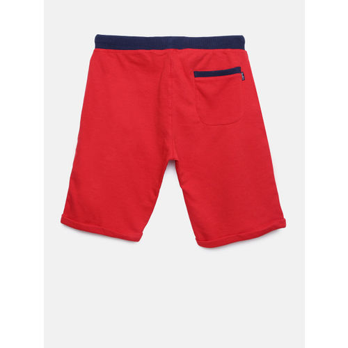 Pepe Jeans Boys Red Solid Regular Shorts