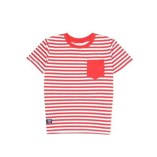 Pepe Jeans Kids Red & White Striped T-Shirt