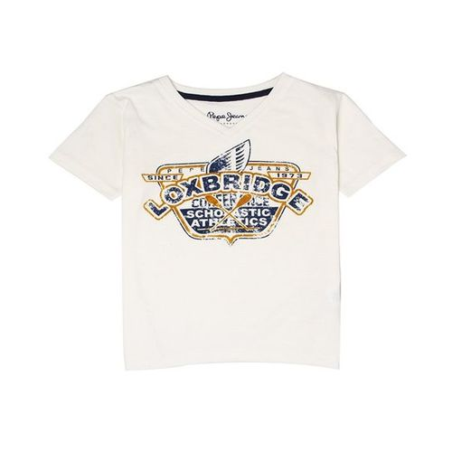 Pepe Jeans Kids White Printed T-Shirt