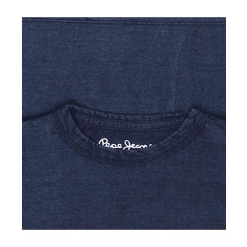 Pepe Jeans Kids Navy Textured T-Shirt