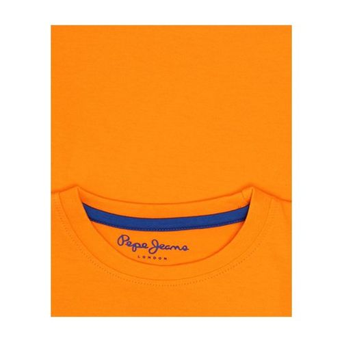 Pepe Jeans Kids Orange Printed T-Shirt