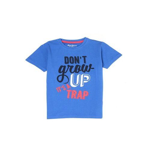 Pepe Jeans Kids Royal Blue Printed T-Shirt