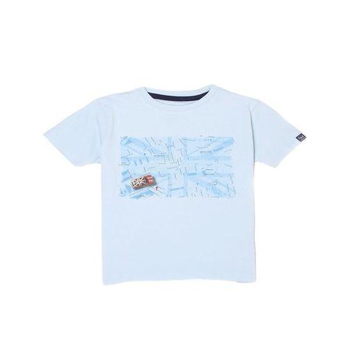 Pepe Jeans Kids Sky Blue Graphic Print T-Shirt