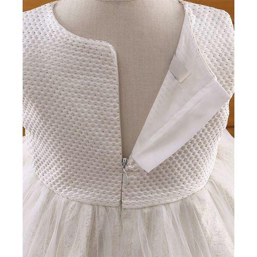 Amigo 7 Seven Puffy Sleeveless Net Dress - White