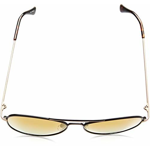 Pepe Jeans Polarized Aviator Unisex Sunglasses - (PJ5128C1P_Matt Black|61|Yellowish Brown Revo Color Lens)