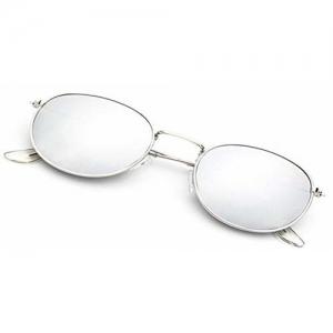 Y&S UV Protected Mirror Reflector Unisex Sunglasses (SM-Kavali-Single, 55, Silver)