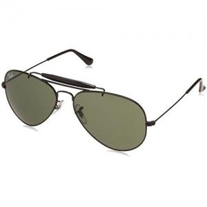 Ray-Ban Rayban Aviator Unisex Sunglasses (0RB3129IW022858 58 millimeters Green)