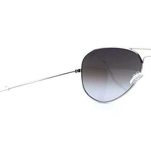 IDEE Mirrored Aviator Unisex Sunglasses - (IDS2001C54SG|58|Silver Mirror-Smoke Gradient Color Lens)
