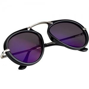 NuVew Mirrored Aviator Unisex Sunglasses - (Medium | Color Options | NW-8389-25-PRT)