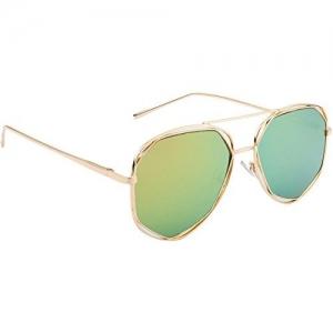 NuVew Mirrored Aviator Unisex Sunglasses - (Medium   Color Options   NW-BK31-13-PRT)