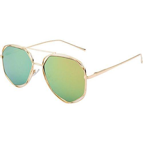 NuVew Mirrored Aviator Unisex Sunglasses - (Medium | Color Options | NW-BK31-13-PRT)