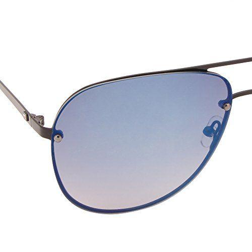 Tommy Hilfiger UV Protected Aviator Unisex Sunglasses - (7877 Blkgr-35 C1 61 S|61|Blue Color)