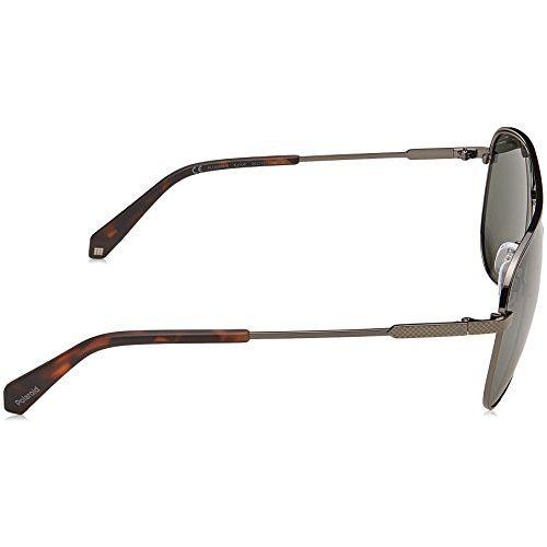 Polaroid Polarized Aviator Unisex Sunglasses - (PLD 2054/S KJ1 60UC|60|Green Color)