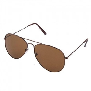 Agera Uv Protective Aviator Men & Women Sunglasses - (Ag1001_Brown_Brown|58|Brown Lens)