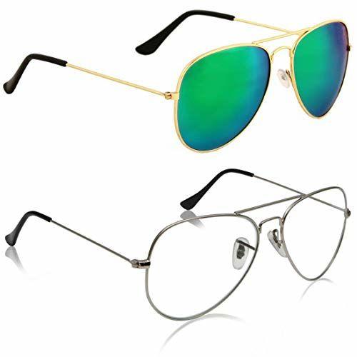 Phenomenal Aviator Sunglasses For women Green-Clear