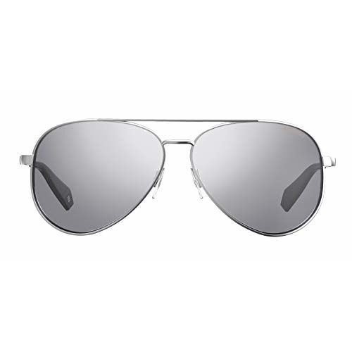 Polaroid Polarized Aviator Women's Sunglasses - (PLD 6069/S/X YB7 61EX|61|Silver Color Lens)
