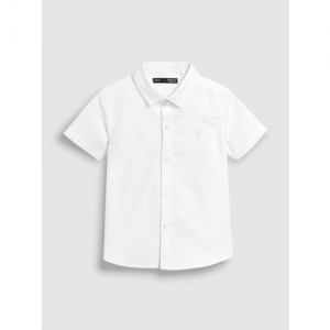 next Boys White Regular Fit Solid Casual Shirt
